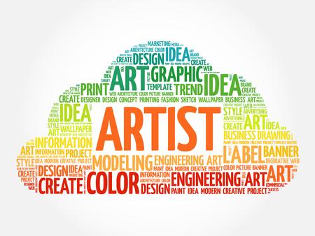 ARTIST word cloud, creative business concept background