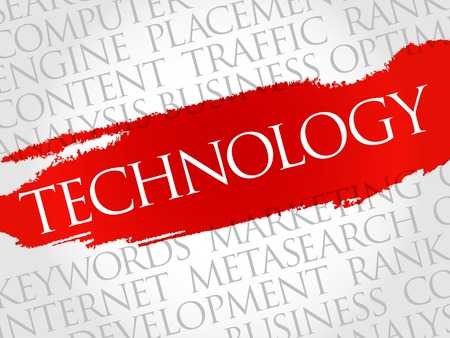 new generation: TECHNOLOGY word cloud, business concept Illustration