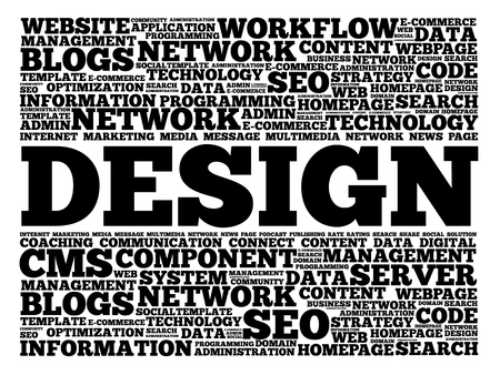 creation of sites: Design word cloud, business concept