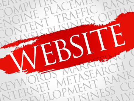 dynamic html: WEBSITE word cloud, business concept