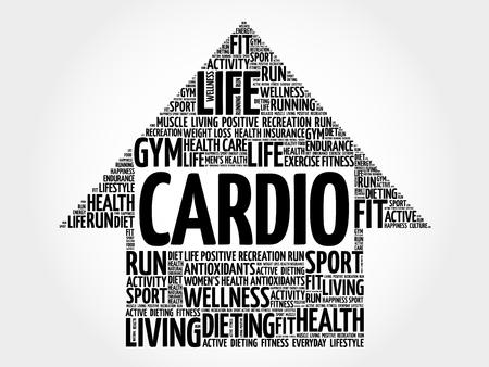 cardio: CARDIO arrow word cloud, health concept