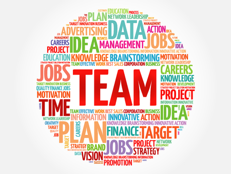 team concept: TEAM word cloud, business concept