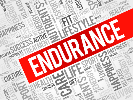endurance: ENDURANCE word cloud background, health concept