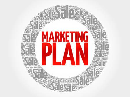 words cloud: Marketing Plan words cloud, business concept background Illustration