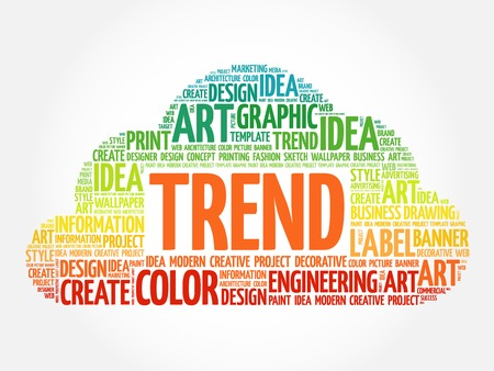 trend: TREND word cloud, creative business concept background