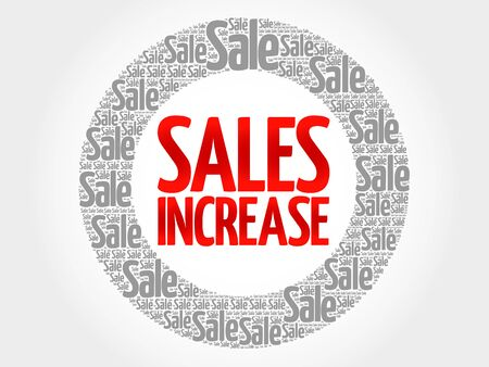 words cloud: Sales Increase words cloud, business concept background