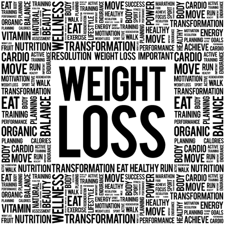 cellulite: Weight Loss word cloud background, health concept Illustration