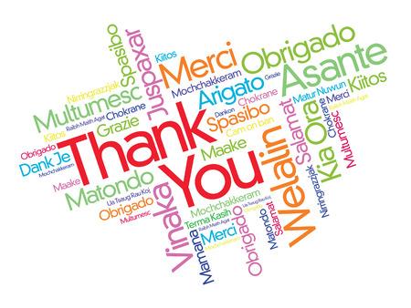 Dziekujemy word chmura w różnych językach, koncepcji tle