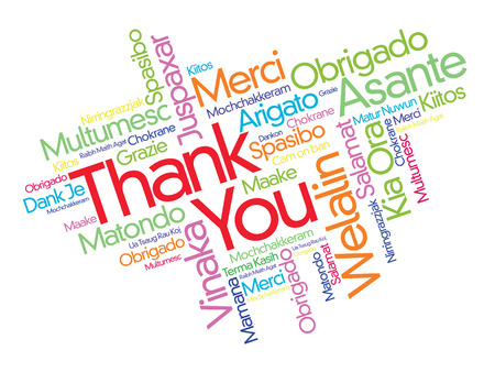 word cloud: Thank You word cloud in different languages, concept background