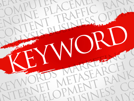 spamdexing: KEYWORD word cloud, business concept