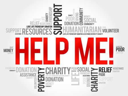 needy: Help Me! word cloud concept