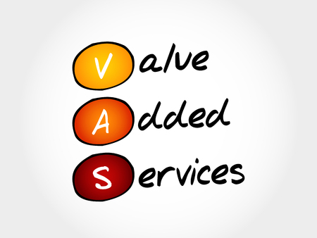are added: VAS - Value Added Services, acronym business concept