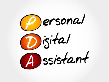 PDA - Personal Digital Assistant, acronym concept Illustration