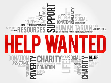 solicit: Help Wanted word cloud concept