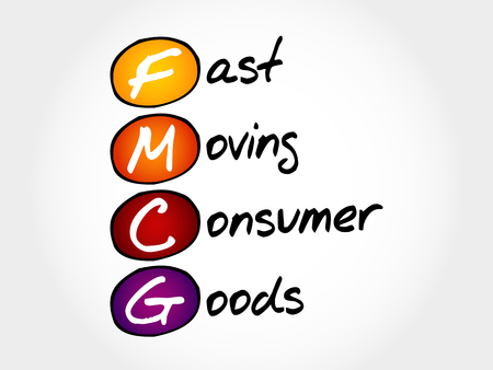 consumer goods: FMCG - Fast Moving Consumer Goods, acronym business concept Illustration