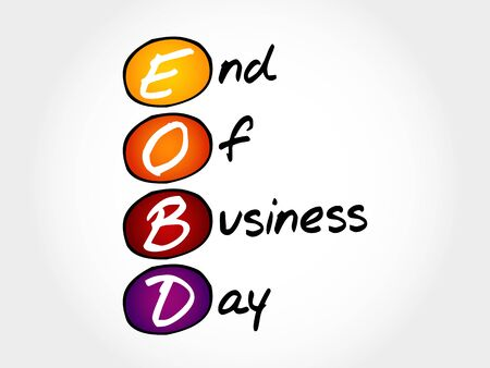 teamworking: EOBD - End Of Business Day, acronym business concept