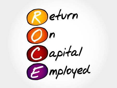 valuation: ROCE - Return On Capital Employed, acronym business concept Illustration