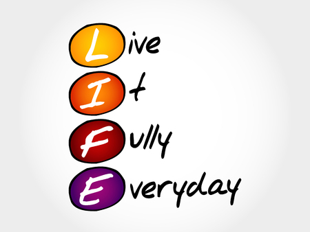 fully: LIFE - Live It Fully Everyday, acronym business concept