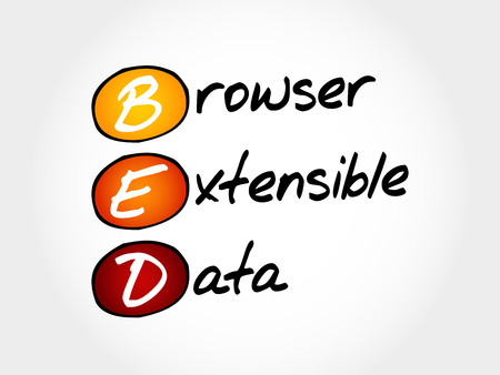 BED - Browser Extensible Data, acronym concept Illustration