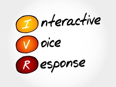IVR - Interactive Voice Response, le concept acronyme d'affaires Vecteurs