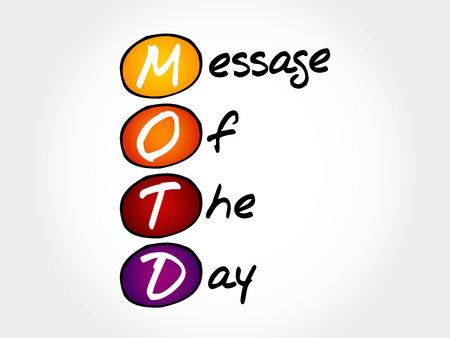 announcing: MOTD - Message Of The Day, acronym business concept Illustration