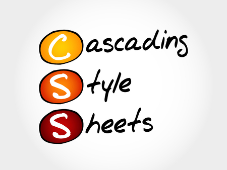 css: CSS - Cascading Style Sheets, acronym concept Illustration