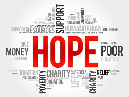hope: Hope word cloud concept