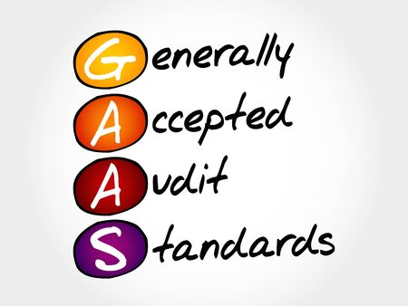 lenders: GAAS - Generally Accepted Audit Standards, acronym business concept