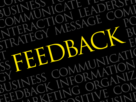 Feedback Word Cloud, business concept background Illustration