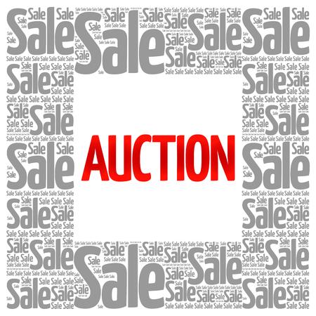 auctioneer: AUCTION words cloud, business concept background