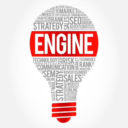 meta tags: ENGINE bulb word cloud, business concept