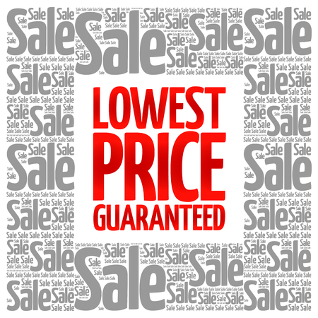 lowest: Lowest Price Guaranteed words cloud, business concept background