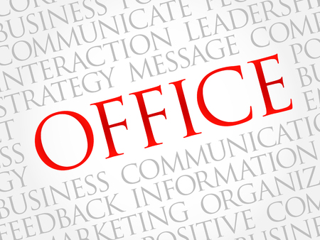 regional product: OFFICE word cloud, business concept