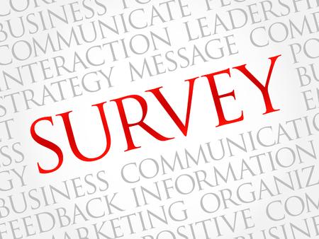 inquest: Survey word cloud, business concept