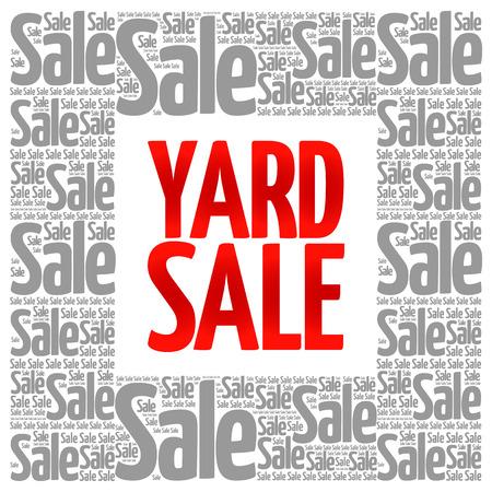 yard sale: YARD SALE words cloud, business concept background Illustration