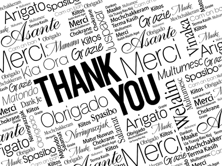 Thank You Word Cloud concept background in many languages 版權商用圖片 - 57872265