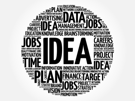 supposition: Idea word cloud, business concept Illustration