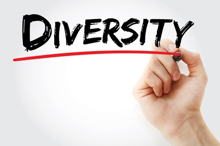 divergence: Hand writing Diversity with marker, business concept