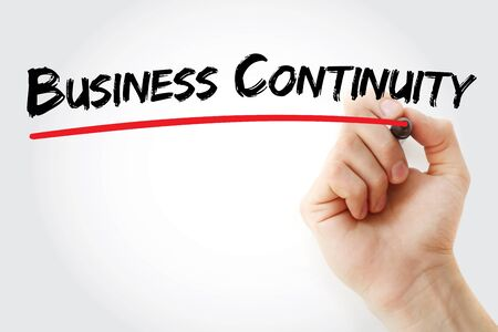 drp: Hand writing Business Continuity with marker, business concept background