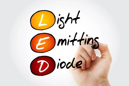 the light emitting: Hand writing LED Light Emitting Diode with marker, acronym concept