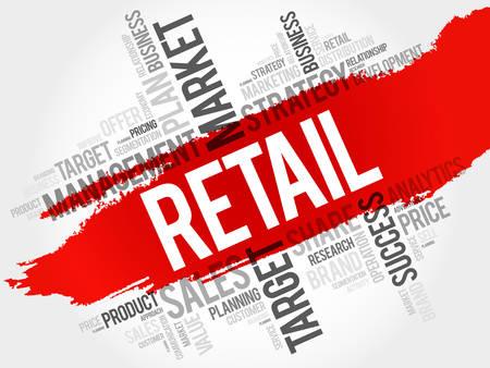 retailing: Retail word cloud, business concept
