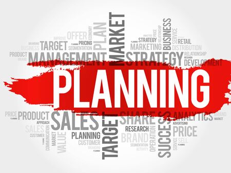 global work company: Planning word cloud, business concept