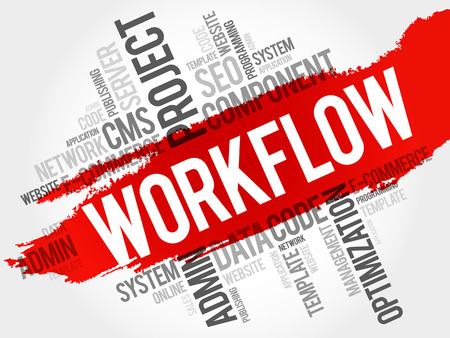 business continuity: WORKFLOW word cloud, business concept