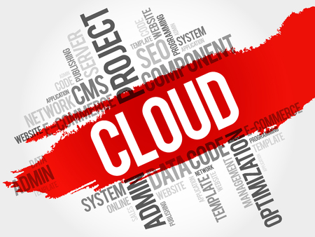 word cloud: CLOUD. word cloud concept