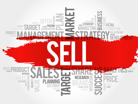 relationsip: Sell word cloud, business concept