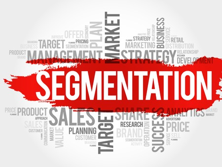 relationsip: Segmentation word cloud, business concept Illustration