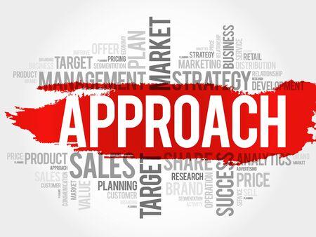 approach: Approach word cloud, business concept