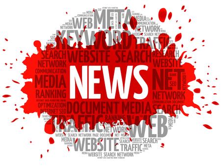 good break: News word cloud, business concept