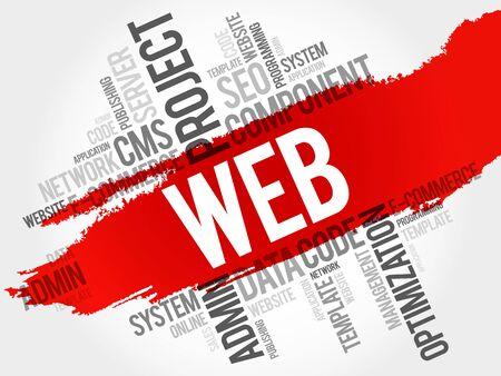 business ideas: WEB word cloud, business concept