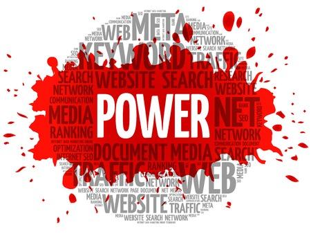 POWER word cloud, business concept Illustration